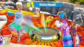 FORTNITE POOL IS LAVA Challenge! 🔥🔥 (VICTORY ROYALE!!)