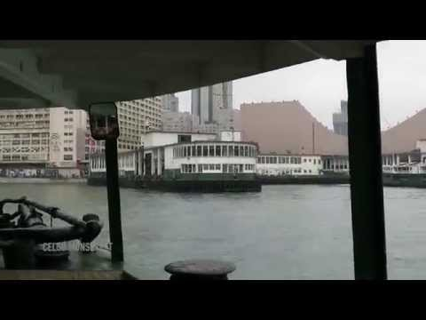 Timelapse - Hong Kong Island to Kowloon, Victoria Harbour 03/13/2015