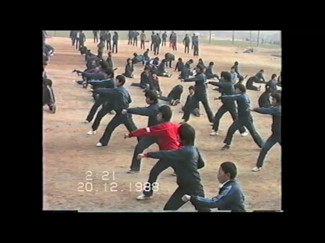 The Famous TAGOU school more then 10000 shaolin students filmed Sifu Walter Toch 1988