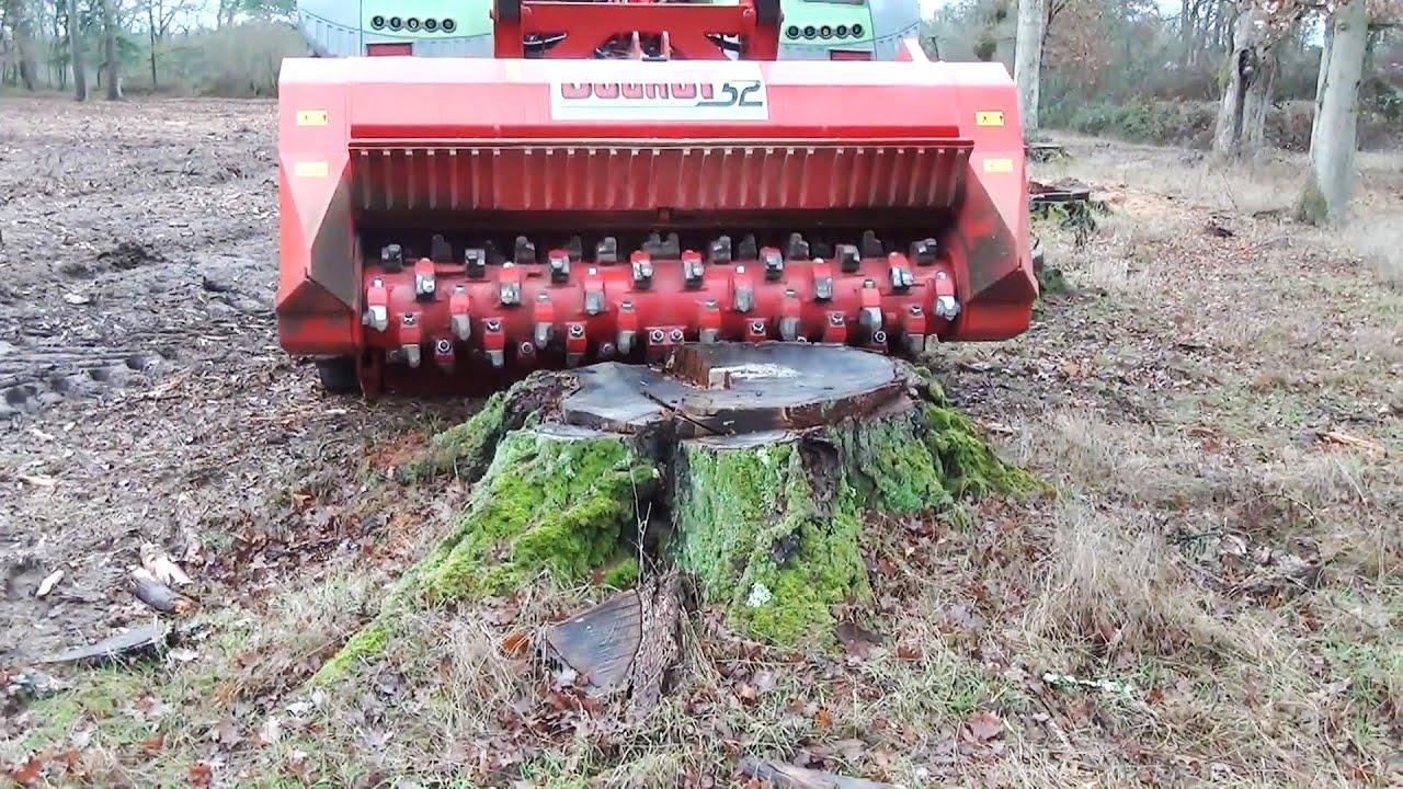 Download World's Amazing stump puller & mulcher Excavator and tractor best work