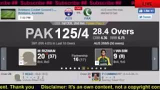 Australia vs Pakistan 1st ODI Live   Live Cricket Score   Australia vs Pakistan at Brisbane  Online