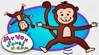 Five Little Monkeys Jumping on the Bed - Nursery Rhymes and Childrens Songs