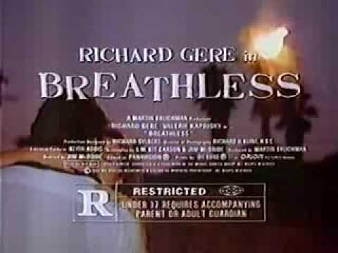 Richard Gere in Breathless 1983 TV trailer