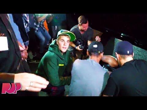 Justin Bieber Runs Over Paparazzi, Handles It Like a CHAMP (Video)