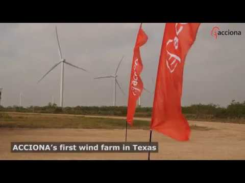 Dedication ceremony of the San Roman Wind Farm (Texas, US)
