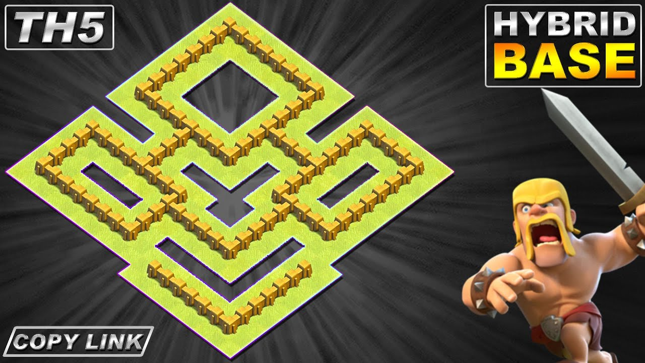 NEW TH5 HYBRID/TROPHY[defense] Base 2020 | Town Hall 5 Base with copy link - Clash of Clans