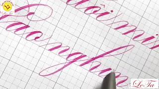Luyện chữ đẹp với LeTa369 I Bút lá tre không gỉ I Calligraphy I Bút mài LeTa