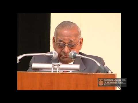 Sr. Adv. P.P. Rao : The Constitution of India : The Way Forward (NLSIU Bangalore)