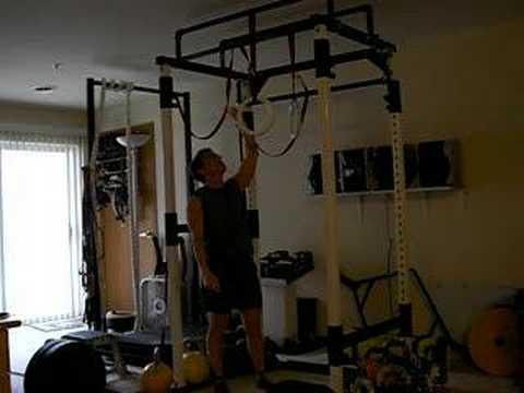 Crossfit Kelly Moore Ring Muscleups Inside Power Rack