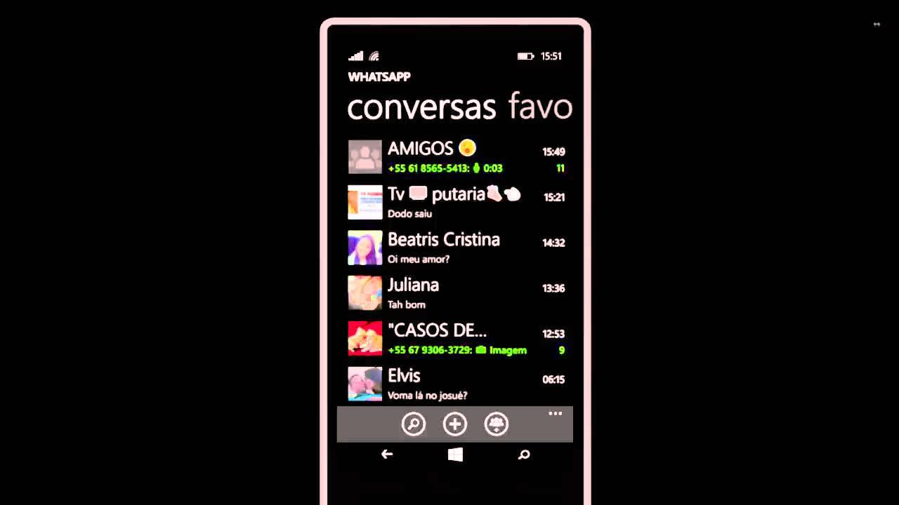 papel de parede whatsapp windows phone - YouTube