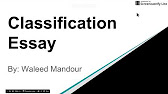classification and division essay 7 46