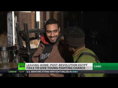 'We need democracy': Youngsters flee from post-revolution Egypt