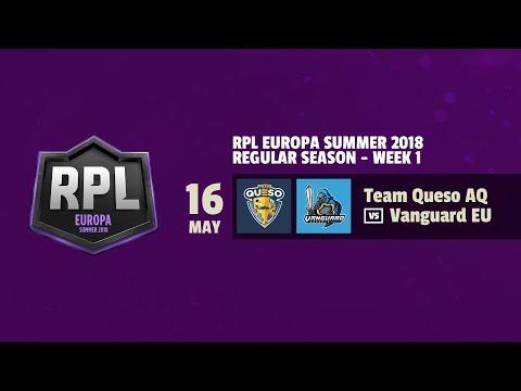 TEAM QUESO AQ vs VANGUARD EU - RPL EUROPA SUMMER 2018 - JORNADA 1 | CLASH ROYALE | REVOL AIMAR |