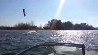 gun lake kite boarding in october