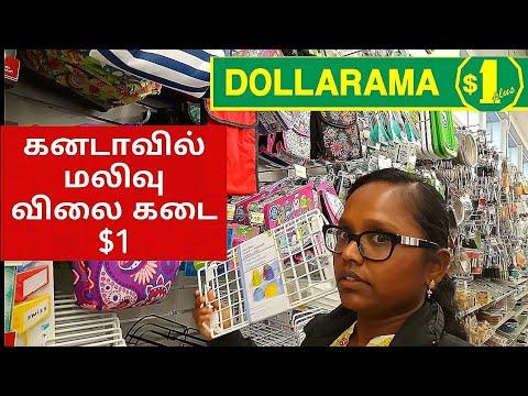 கனடாவில் விலை மலிவான கடை Canada Tamil Vlog /Canadian Dollar Store Haul / Dollarama Canada