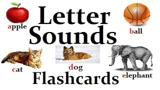 ABC Letter Sounds From A-Z Flashcards Learning Videos For Baby Pre-K Kindergarden