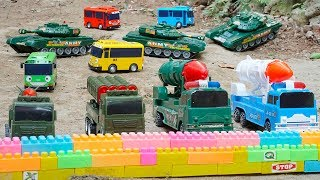 Rocket Truck Military rescue Tayo Bus escape Dinosaurs & Army Tank Toys | Kids and Toys for Children