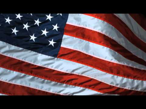 Slow Motion USA Flag Waving United States of America Flag Flying in High Definition HD Slowmo Video