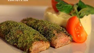 Как приготовить свинину с сырным пюре. Рецепт - Основной инстинкт. Выпуск 13
