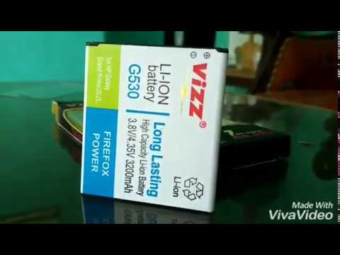 battery dobble pemakaian selama 2 minggu merk VIZZ