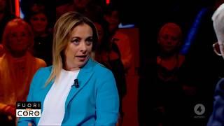 Giorgia Meloni: Buonasera A Tutti! Ora Da Mario Giordano A Fuori Dal Coro. Mi Seguite?