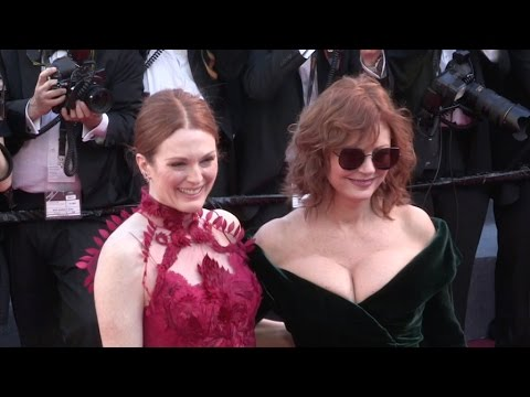 Susan Sarandon and Julianne Moore on the red carpet for the Opening Ceremony of the 70th Cannes Film