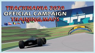 NEW Trackmania 2020 Official Training Maps Campaign - All gold medals Speedrun