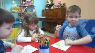 Урок Рисования в детском саду.  Тема: