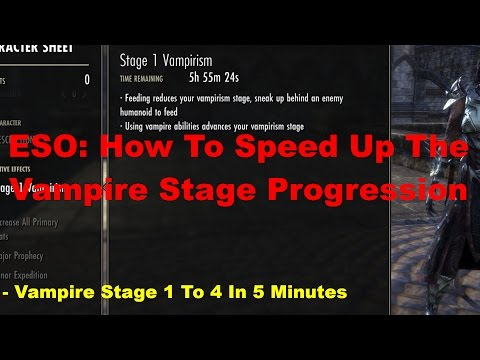 ESO: How To Advance Vampire Stages 1 To 4 In 5 Mins!