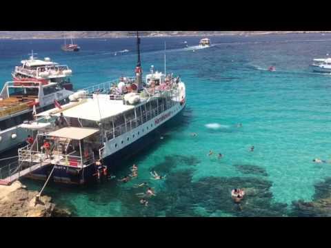 Hornblower cruises Malta MV Keppel in the blue lagoon Comino