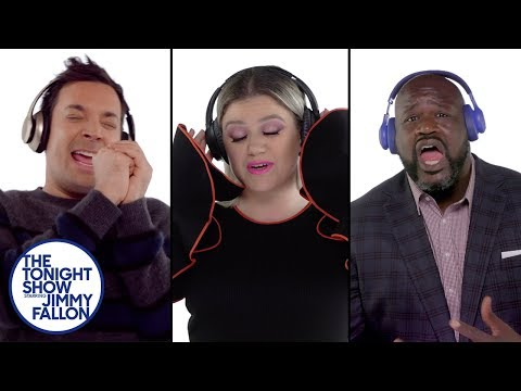 Valentine In The Morning - Shaq, John Oliver, Jimmy Fallon & More Sing/Scream A Kelly Clarkson Song