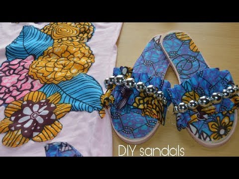 45d55b092d68 Slide in Sandals with African Print Fabric Ankara-Beautarie