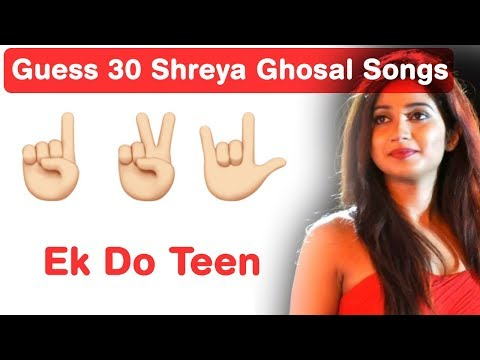 Shreya Ghosal Songs Emoji Challenge!!! Guess Bollywood Songs