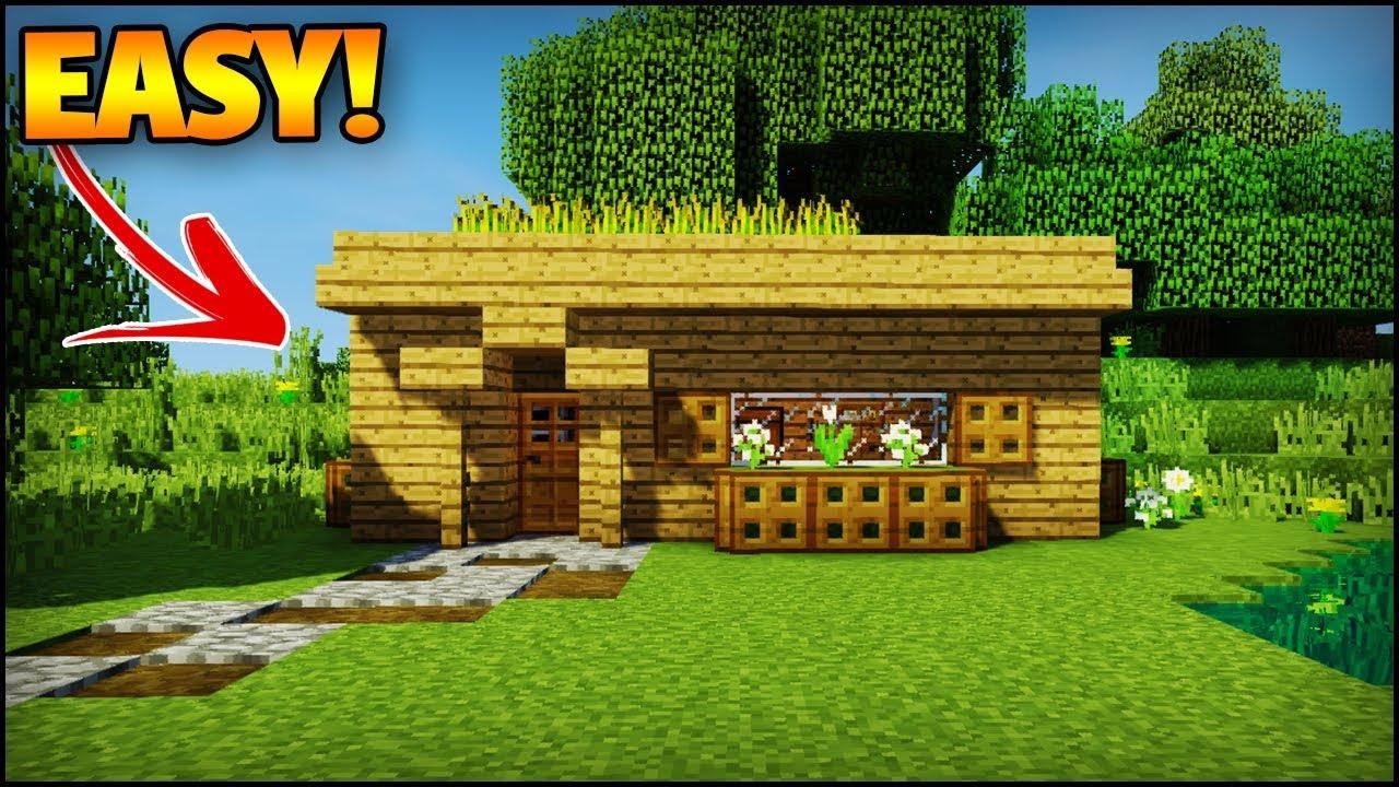 The Best Minecraft Starter House For A Beginner  - Minecraft House Tutorial  Easy