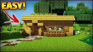 The Best Minecraft Starter House For A Beginner! - Minecraft House Tutorial (EASY)