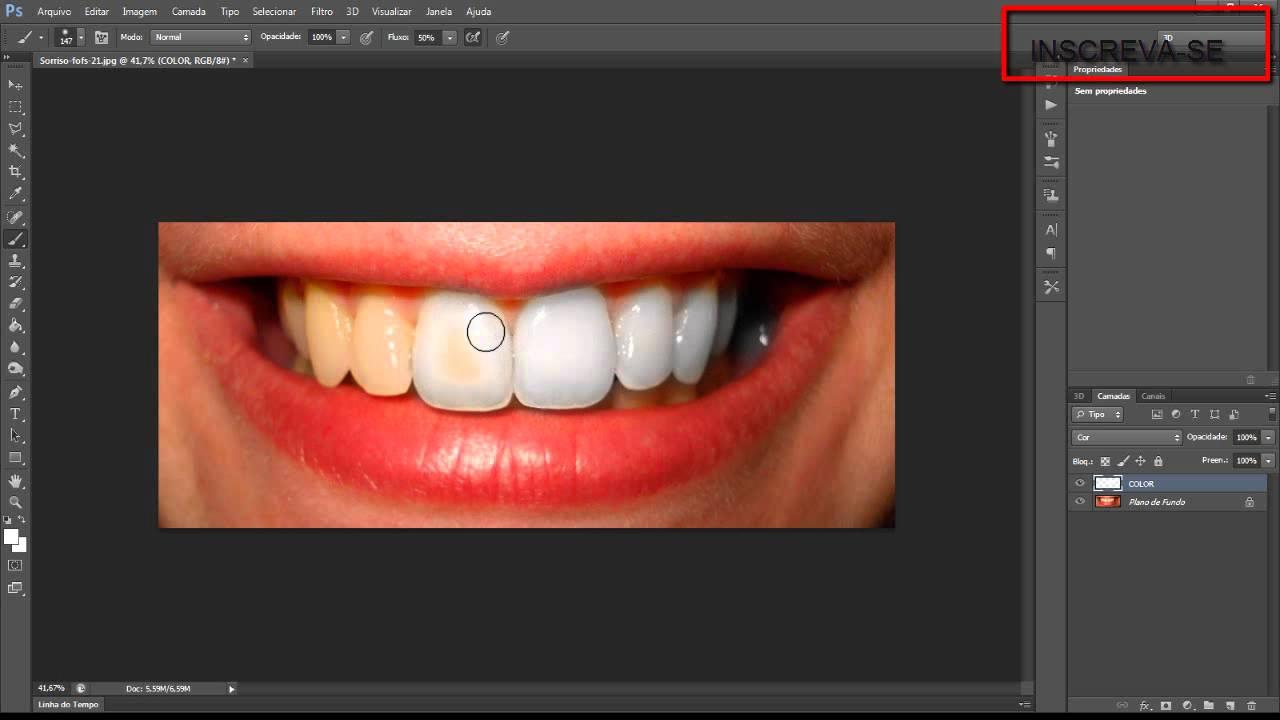 Tutorial Como Clarear Os Dentes No Photoshop Cs6 Youtube