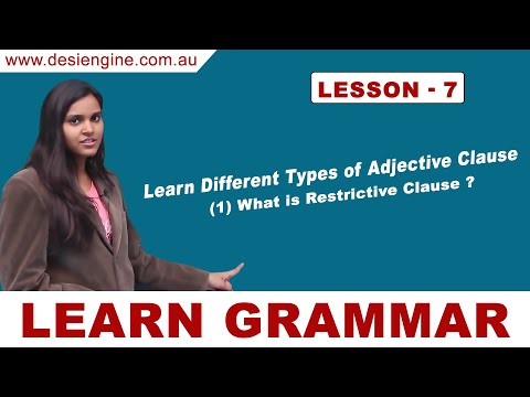 Lesson - 7 Learn Different Types of Adjective Clause | Learn English Grammar | Desi Engine India