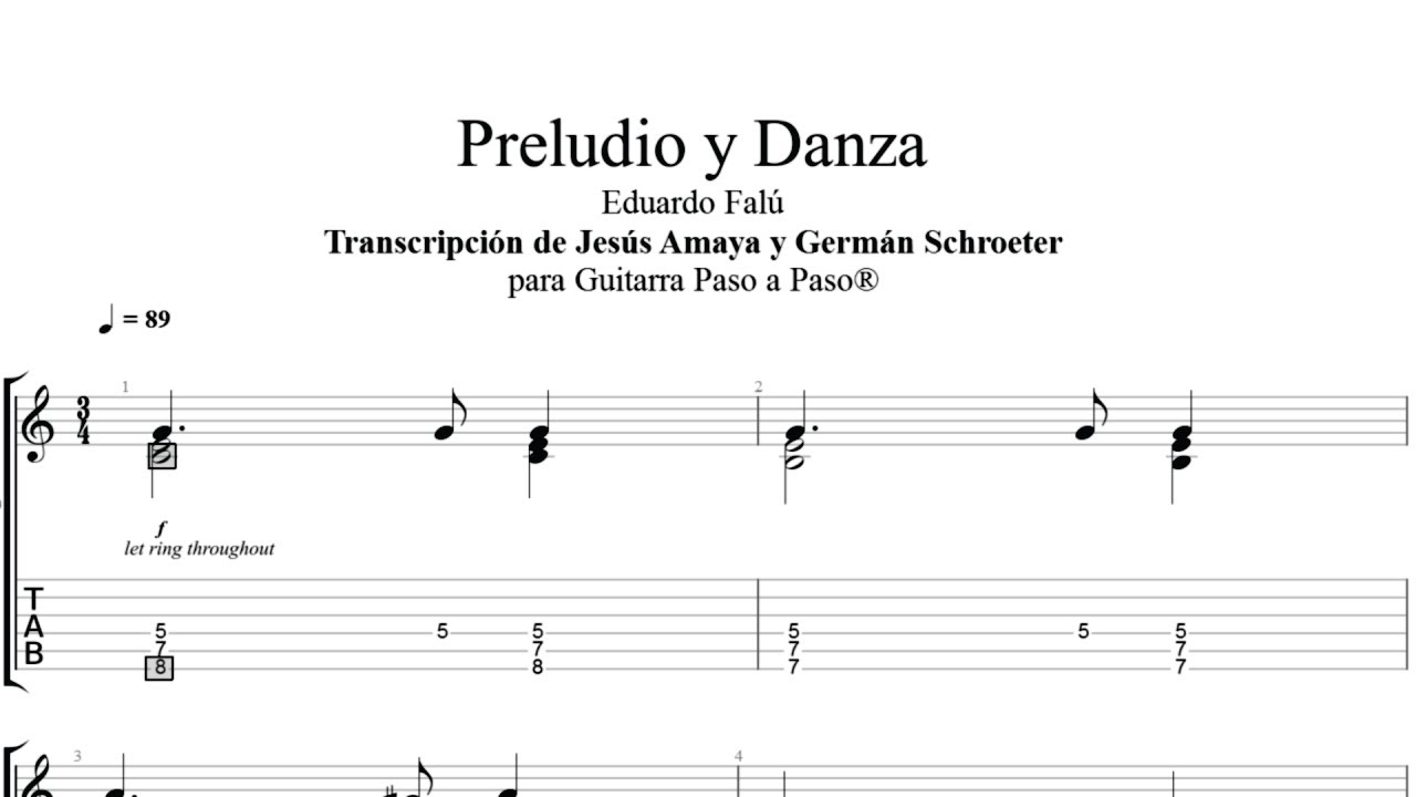 Preludio y Danza - Eduardo Falú - Tablatura por Jesús Amaya...