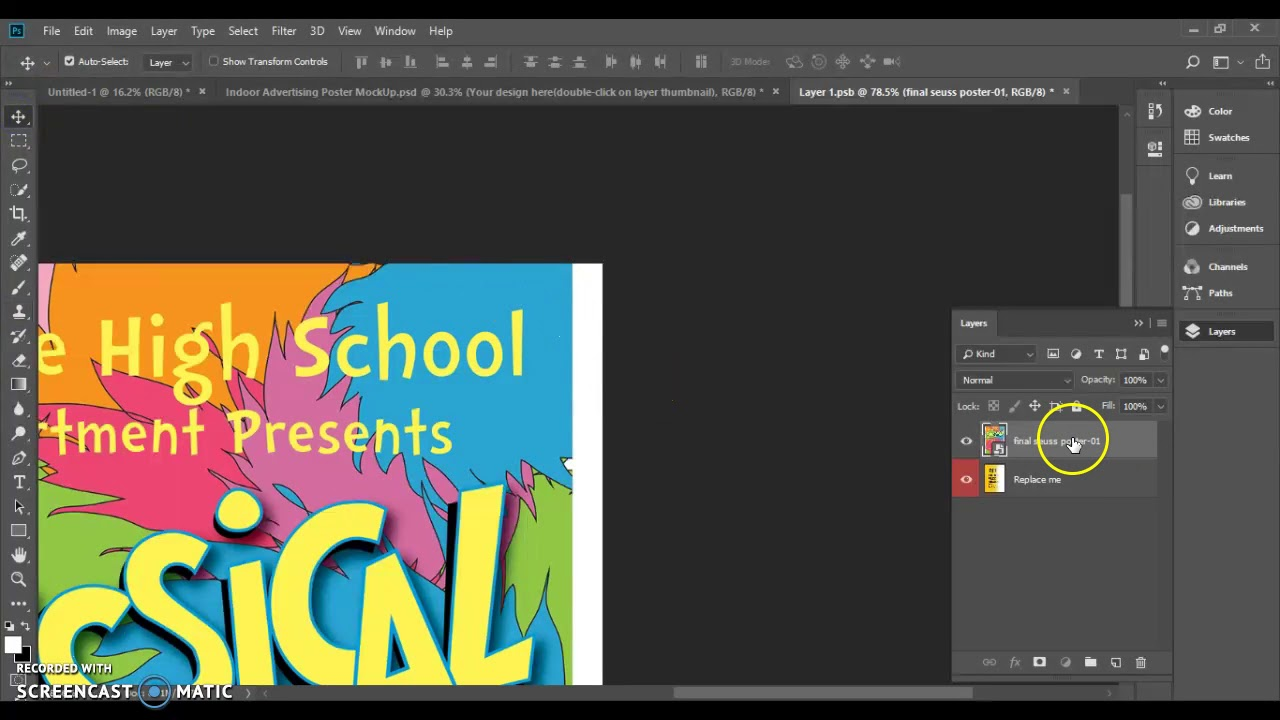 Creating a poster mockup in PSD