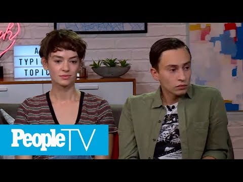 Keir Gilchrist & Brigitte Lundy-Paine On Captain Marvel's Brie Larson | Chatter | PeopleTV