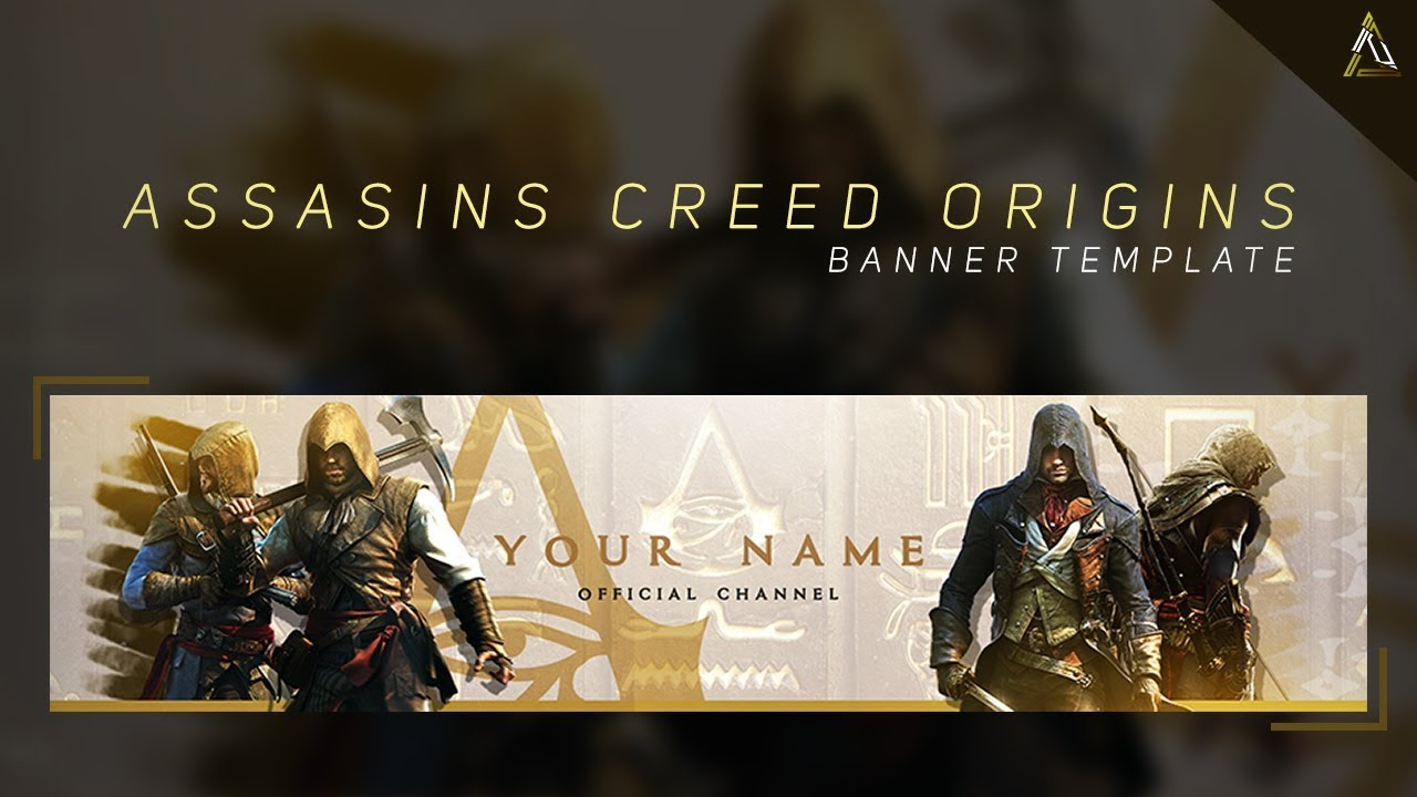 Assassin S Creed Origins Youtube Banner Template 2017 Free