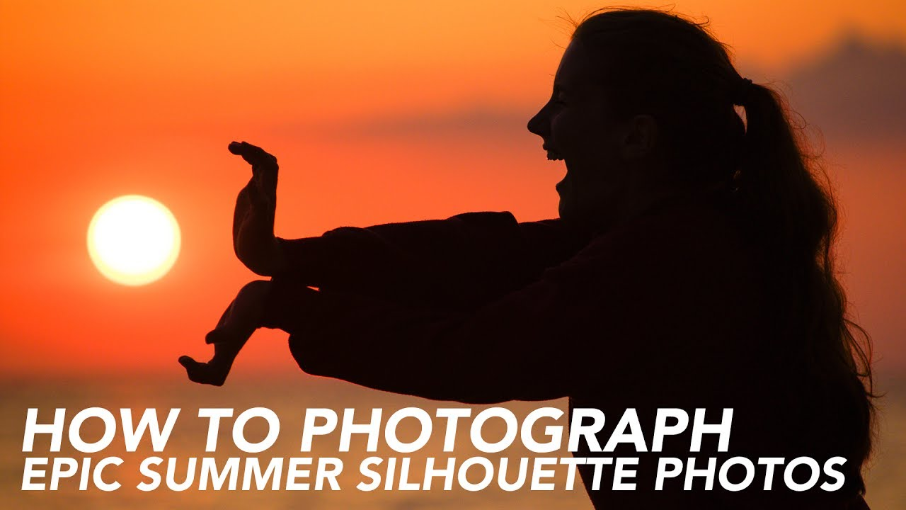 how to photograph silhouette sunset photos youtube