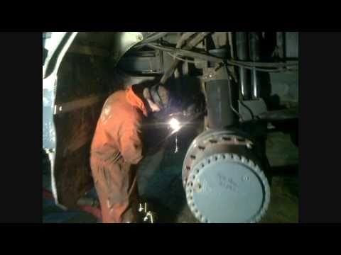 welding in the mines air arc