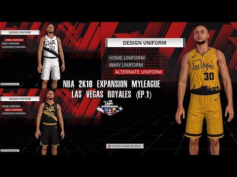 d8cff73b898 NBA 2K18 PS4 Las Vegas MyLeague - ONLY ONE ALTERNATE JERSEY SMH, EXPANSION  DRAFT!