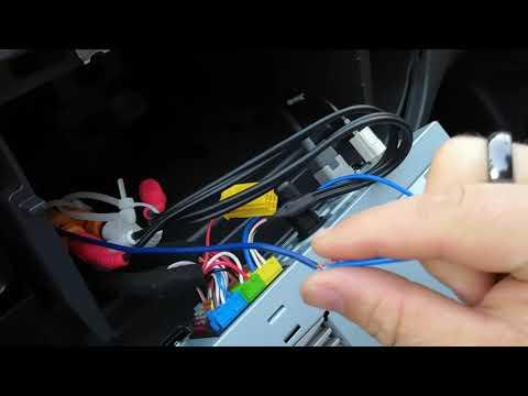 Подключение управляющего провода саба к мини исо.