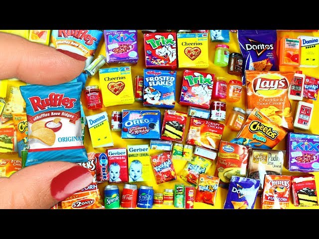 10 DIY Miniature Food Products -  10 Easy DIY Miniature Doll Crafts - simplekidscrafts