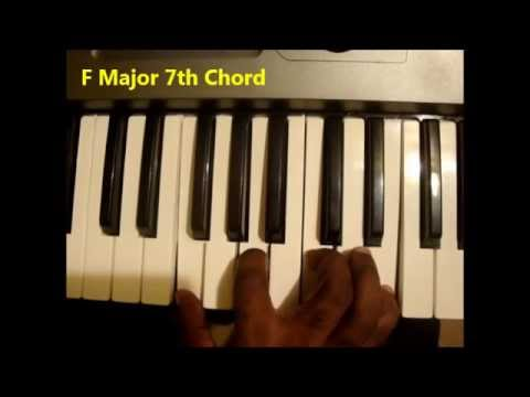How To Play Fmaj7 Chord F Major Seventh On Piano Keyboard Youtube