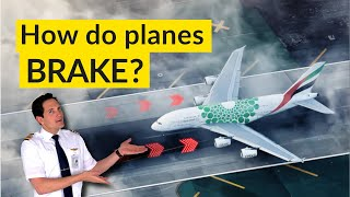 How do PLANES SLOW DOWN on the RUNWAY? Autobrakes System EXPLAINED BY CAPTAIN JOE