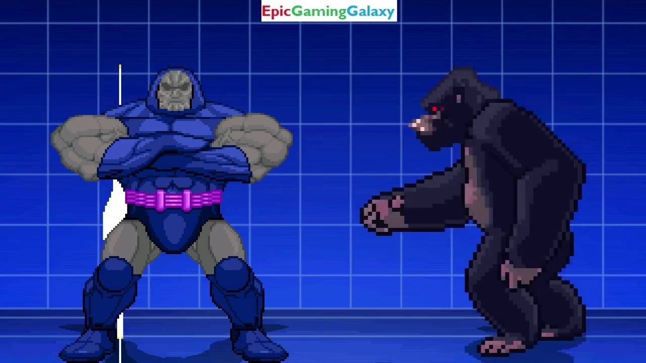 Twilight Sparkle And King Kong VS Darkseid And Thanos In A MUGEN Match /  Battle / Fight