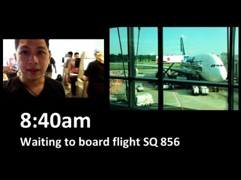 Singapore Airlines Airbus A380 to Hong Kong (Part 1)